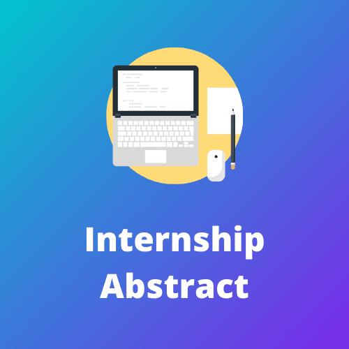Internship Abstract 1